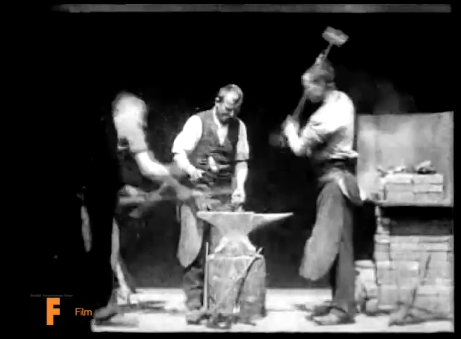 Blacksmith Scene (1893) - 1st Staged Narrative in Film - William K.L. Dickson William Heise